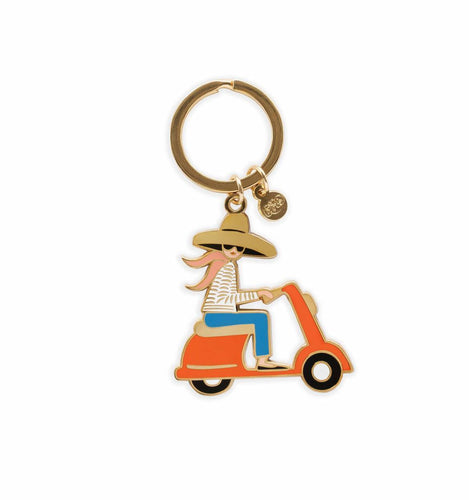 Rifle Paper Company Scooter Enamel Keychain