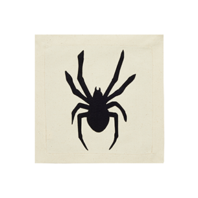 Nora Fleming Spooky Spider Panel - Black Spider Pillow Panel