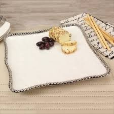 Pampa Bay White Square Serving Platter