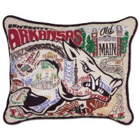 Catstudio University of Arkansas Embroidered Pillow