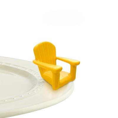 Nora Fleming Yellow Lawn Chair Mini - Chillin' Yellow