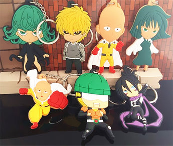 One Punch Man Figures KeyChain