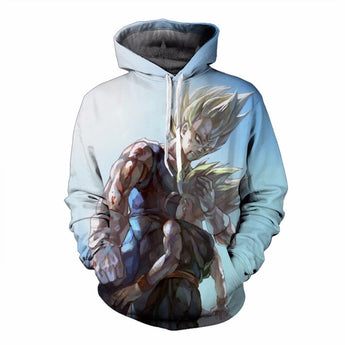 Vintage Dragon Ball Z Super Saiyan Hoodie Vegeta And Trunks