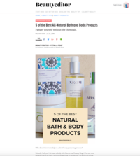 Beauty Editor 5 of the Best All-Natural Bath and Body Products