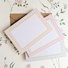 Gingham Notecard Set