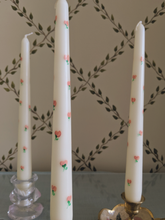 Dreaming Of Roses Hand-Painted Candle