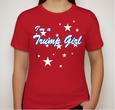"I'm a Trump Girl Ladies Favorite Tee ""Relaxed Fit"" Red"