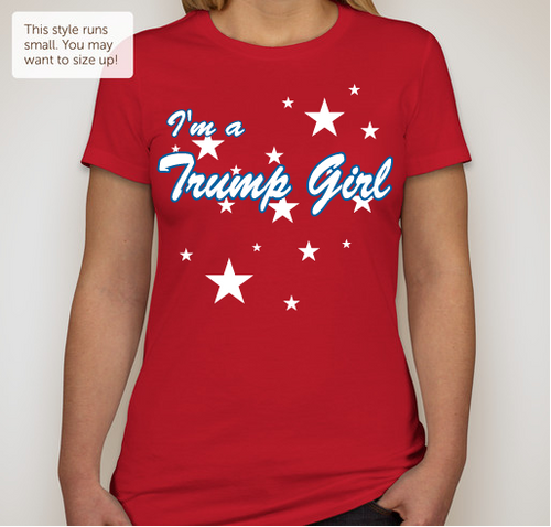 I'm a Trump Girl (Junior Size) Red