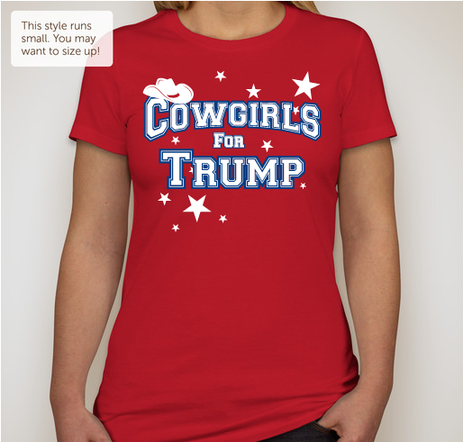 "Cowgirls For Trump  Ladies Favorite Tee  ""Slim Fit""    Red"