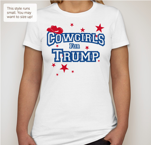 Cowgirls For Trump (Juniors Size) White