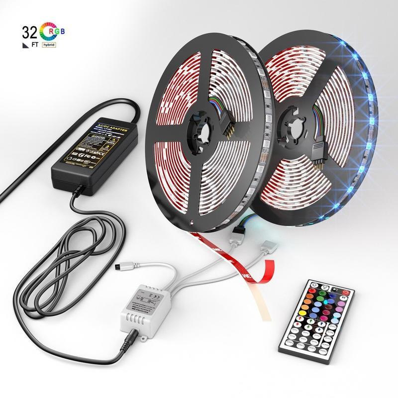 Add some fun to your place with this unique LED Strip Lights kit with a wireless remote control