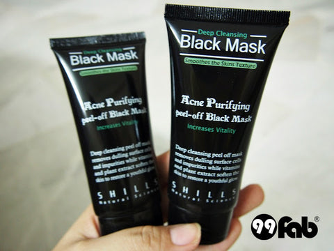 SHILLS BLACK MASK PURIFYING PEEL-OFF MASK REVIEW