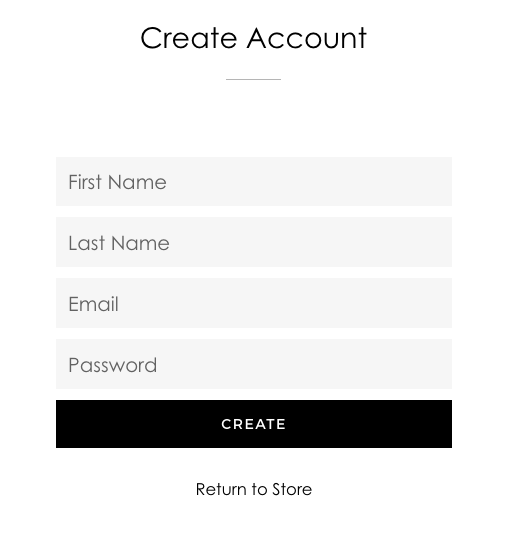 Create new account
