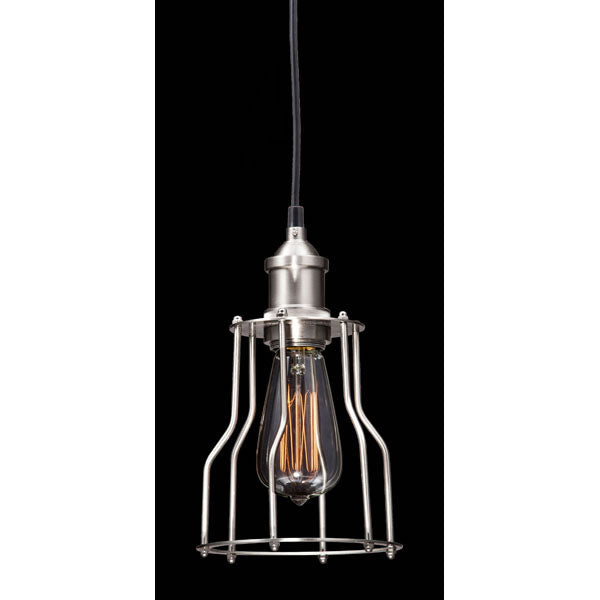 "5.9"" X 5.9"" X 10"" Nickel Metal Ceiling Lamp"