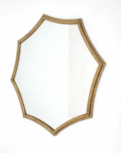 "33"" x 33"" x 1"" Gold, Curved, Hexagon Frame - Cosmetic Mirror"