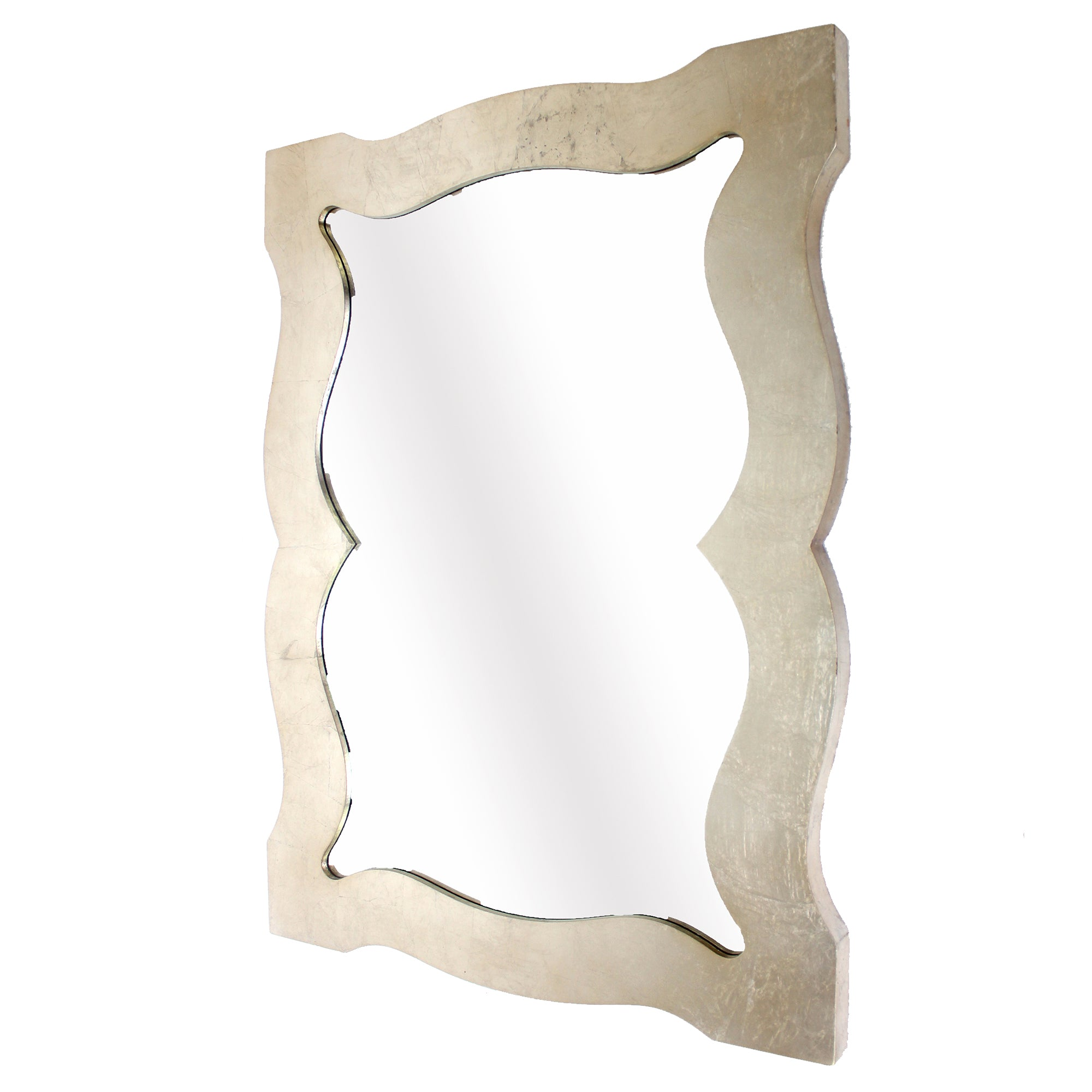 "40"" x 30"" x 1.5"" Silver/Gold Wooden Frame - Cosmetic Mirror"