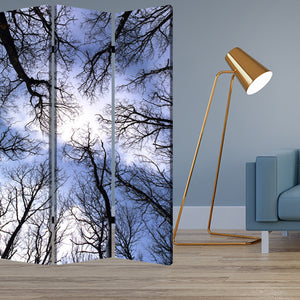 "1"" x 48"" x 72"" Multi-Color, Wood, Canvas, Forest - Screen"