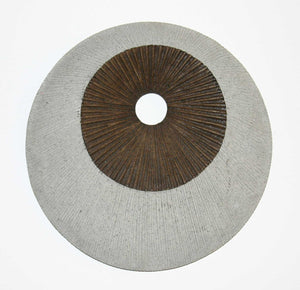 "1"" x 19"" x 19"" Brown & Gray, Round, Double Layer, Ribbed - Wall Decor"