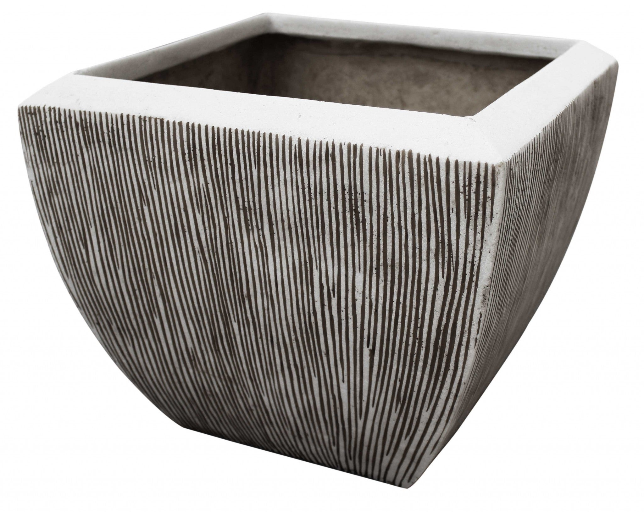 "1"" x 21"" x 19"" Square, Ribbed - Flower Pot"