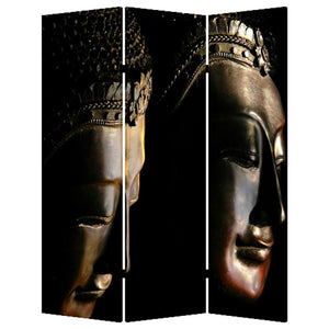 "1"" x 48"" x 72"" Multi-Color, Wood, Canvas, Budda - Screen"