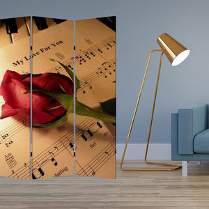 "1"" x 48"" x 72"" Multi-Color, Wood, Canvas, Music - Screen"