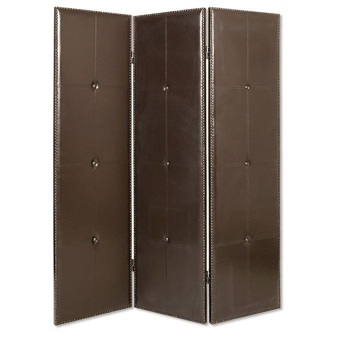 "1"" x 60"" x 72"" Brown, Faux-Leather - Screen"