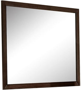 Espresso Wooden Rectangular Vanity Mirror