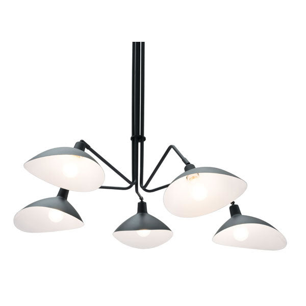 "47.2"" X 47.2"" X 43.3"" Black Metal Ceiling Lamp"