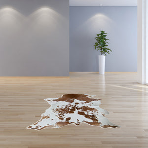 "24"" x 36"" Salt And Pepper, Brown And White Calfskin - Area Rug"
