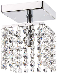 Jhea 1-light Crystal 5-inch Chrome Chandelier