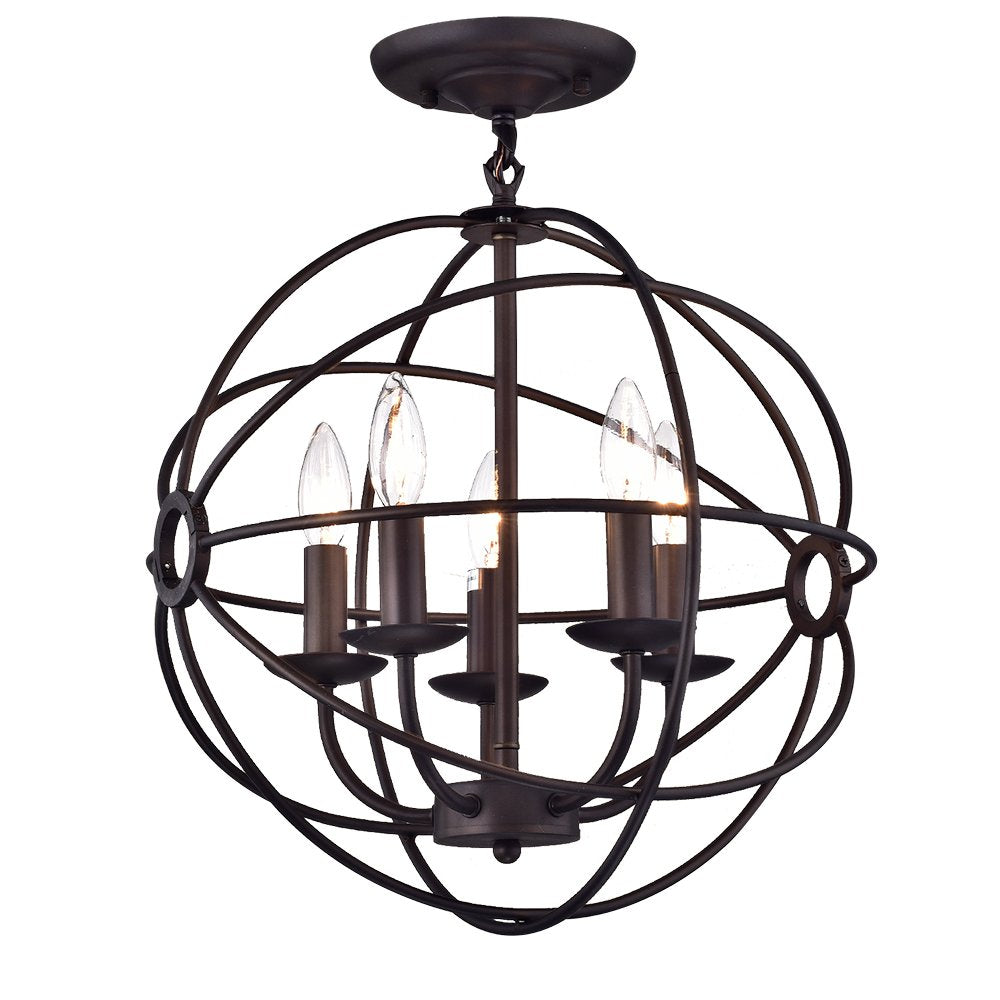Shindanlang Bronze-finish Metal 16-inch Chandelier