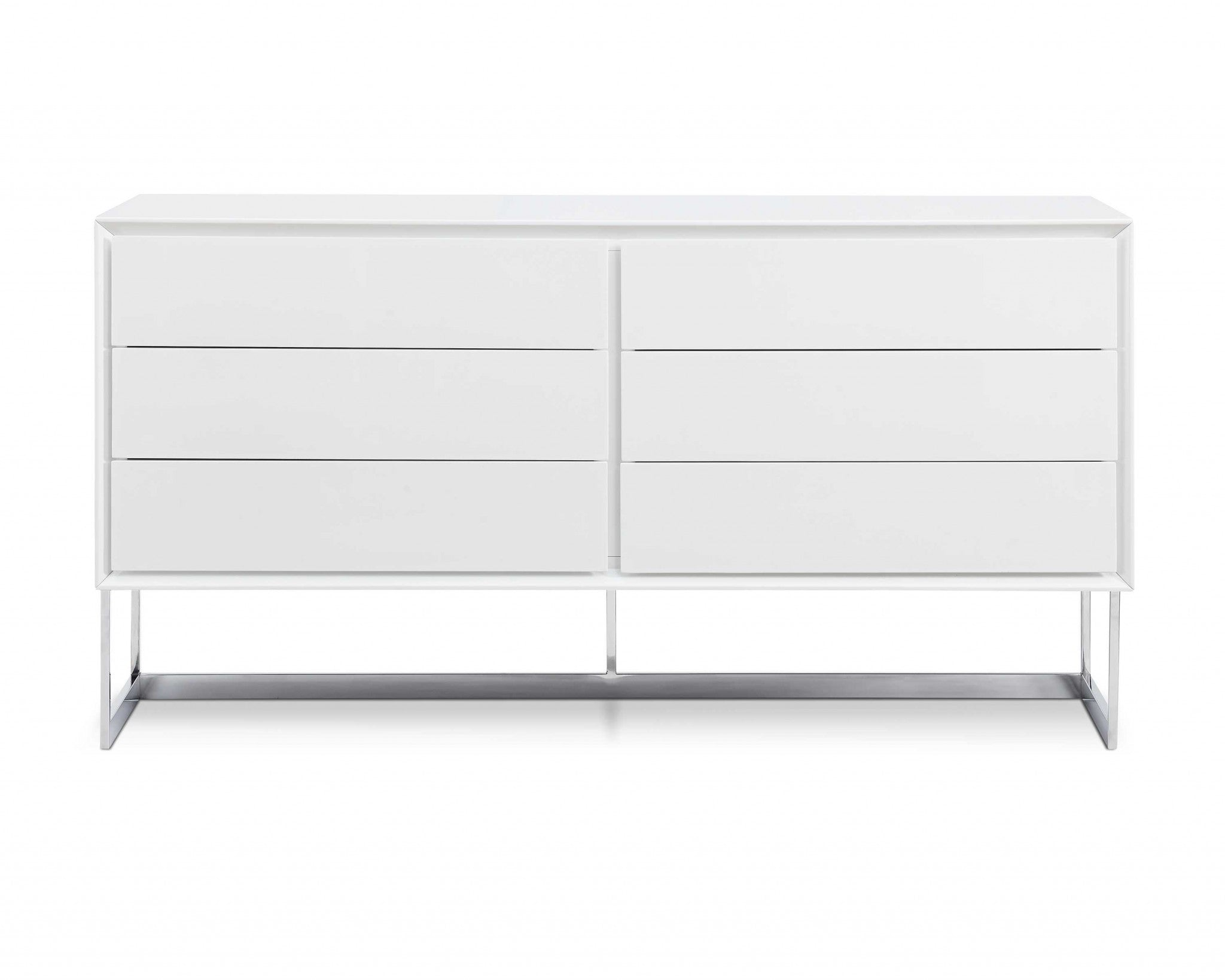 "60"" X 20"" X 32"" White Stainless Steel Buffet"