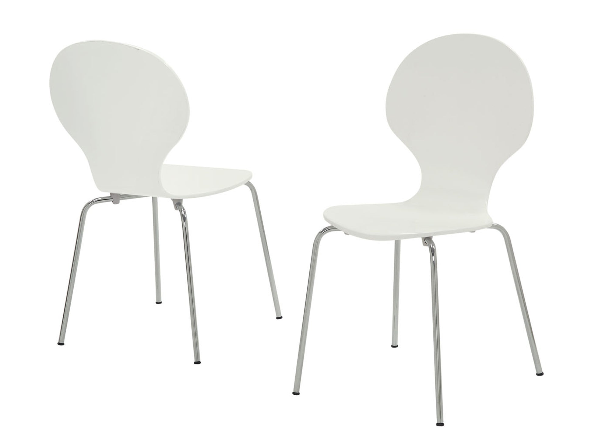 "63'.75"" x 53'.25"" x 102"" White, Metal - 4 Dining Chairs"