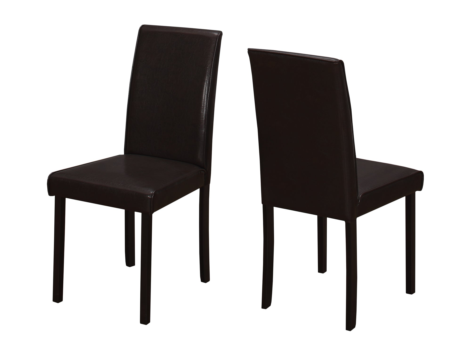 "44'.5"" x 35'.5"" x 72"" Cappuccino, Foam, Solid Wood, Leather-Look - Dining Chairs 2pcs"