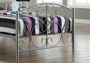 "78"" x 41"" x 37"" Silver, Metal - Twin Size Bed"