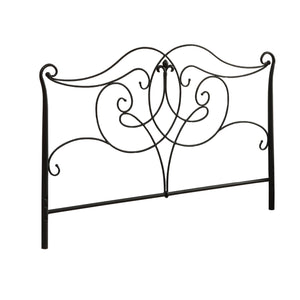 "61'.5"" x 50"", Satin Black/Full/Queen Size - Headboard/Footboard"