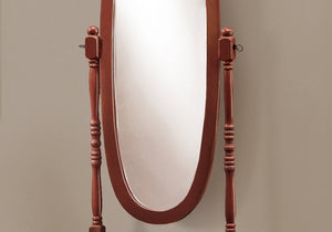 "20"" x 23"" 59"" Antique Oval Wood Frame Mirror"