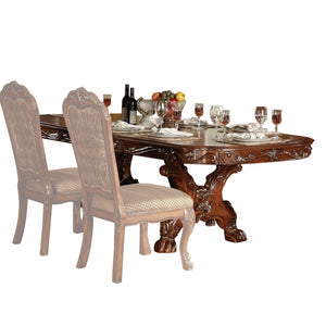 "46"" X 108"" X 31"" Cherry Oak Wood Poly Resin Dining Table with Trestle Pedestal"