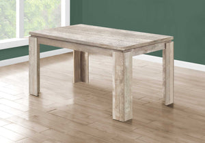 "35'.5"" x 59"" x 30'.5"" Taupe, Reclaimed Wood Look - Dining Table"