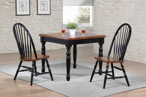 "36"" X 36"" X 41"" Black Cherry Finish Solid Hardwood 3 Piece Dining Set"