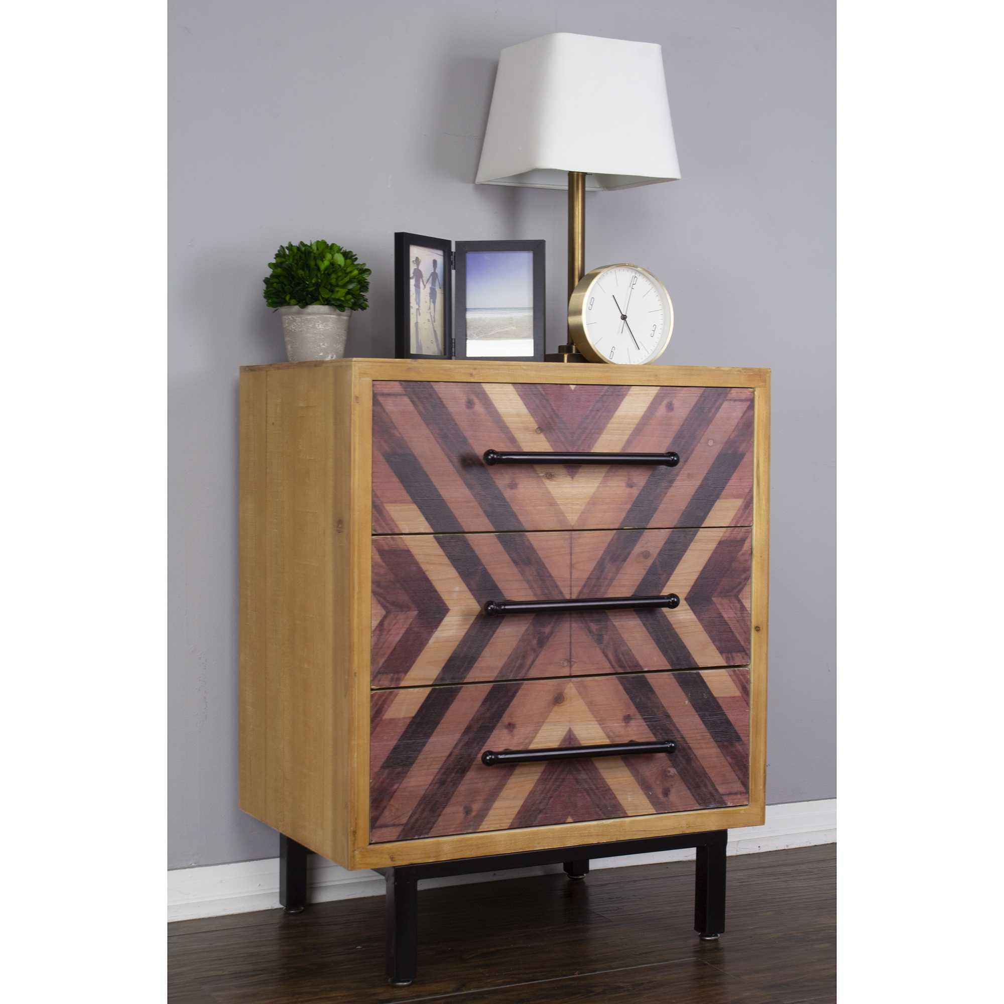 "30"" x 23.75"" x 15.75"" MDF Brown Contemporary Wooden Cabinet"
