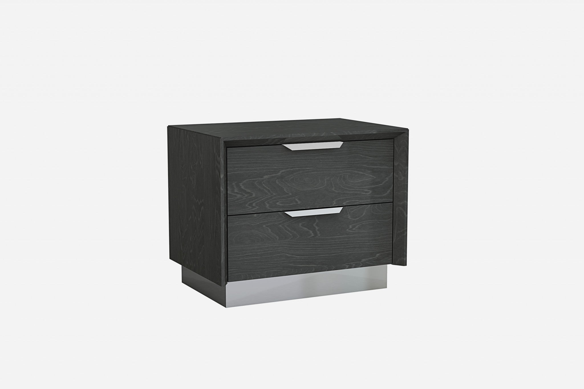"25"" X 17"" X 21"" Grey Stainless Steel Nightstand"