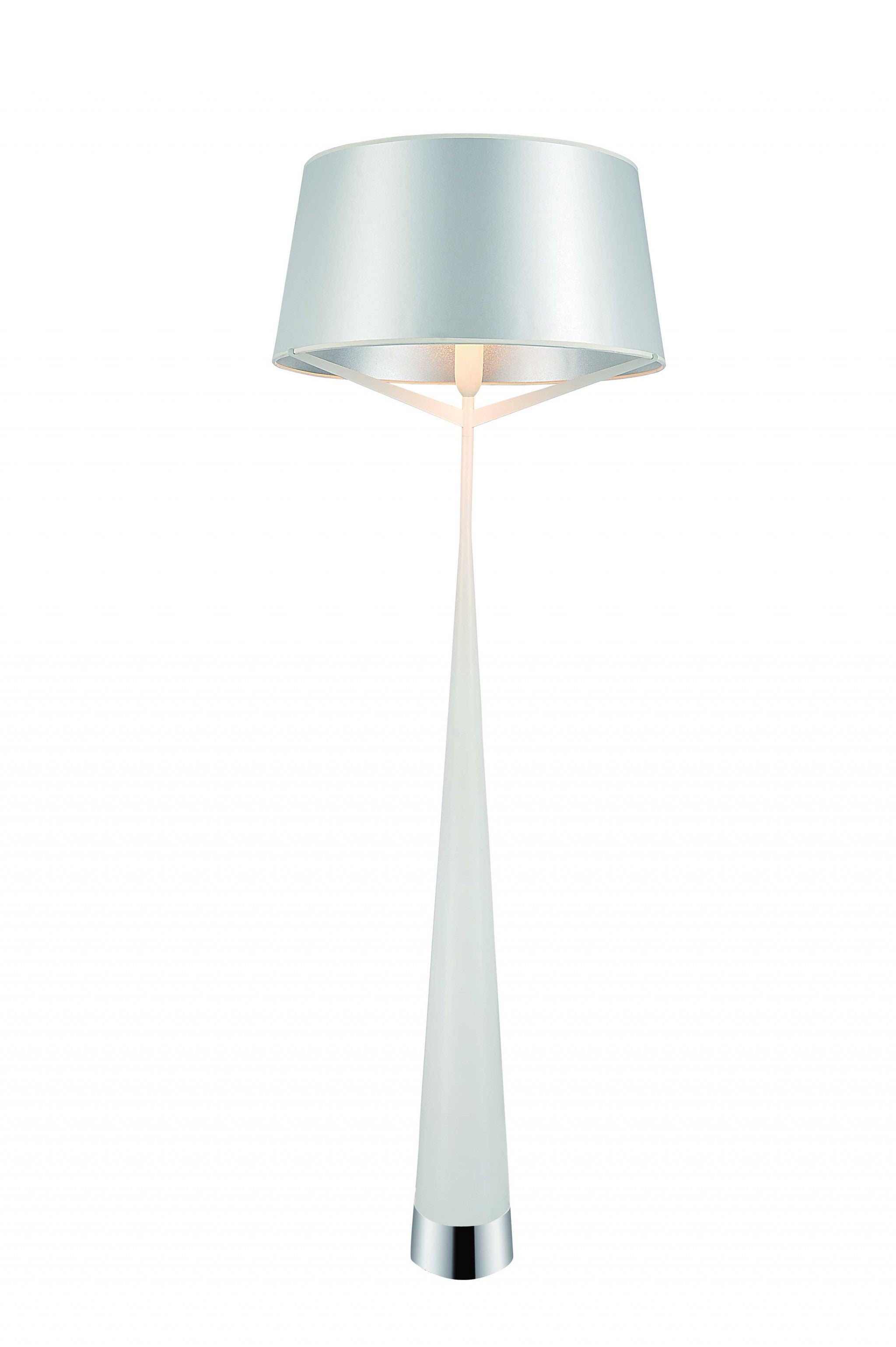 "24"" X 24"" X 67"" White Carbon Floor Lamp"