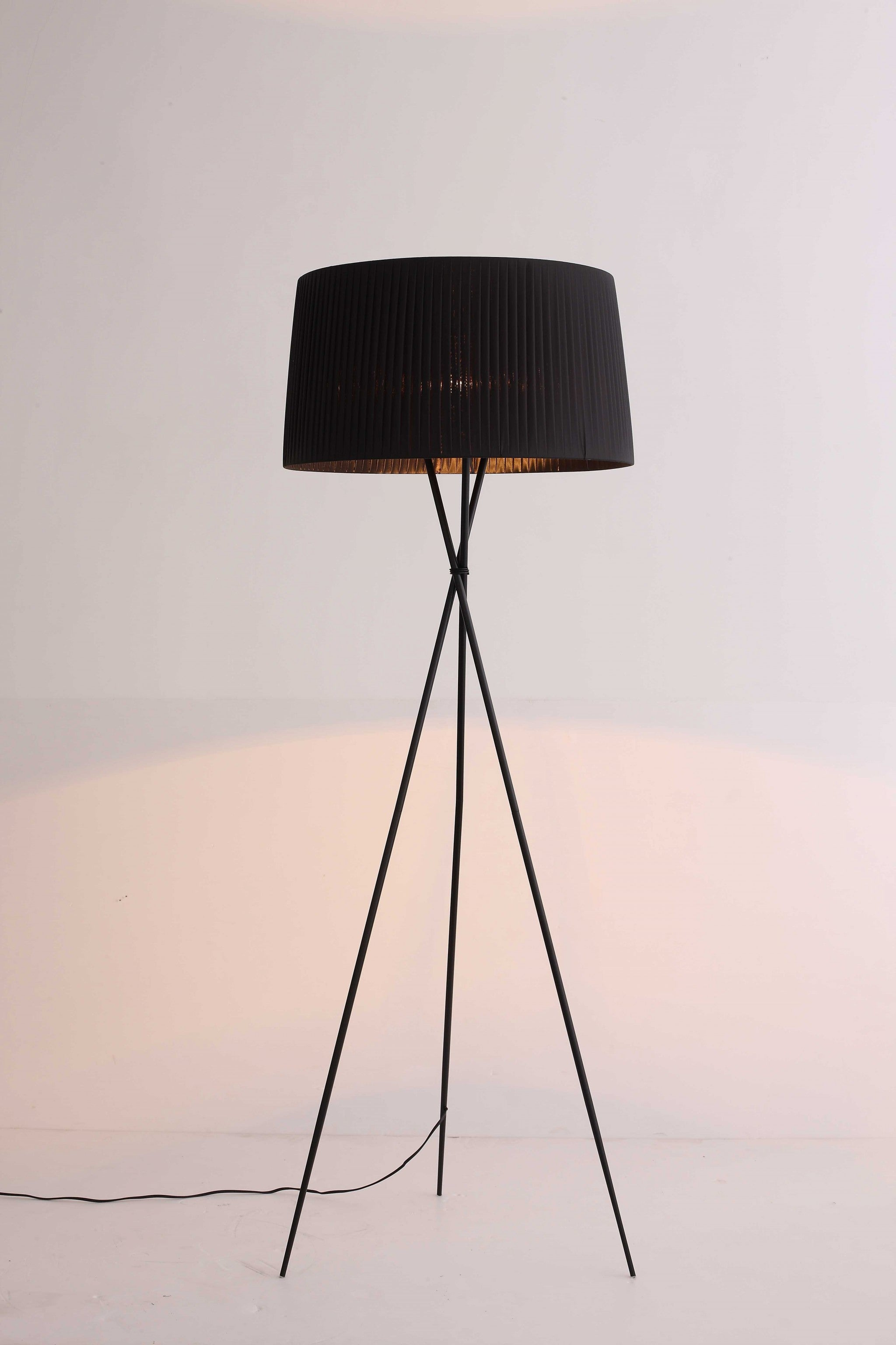 "20"" X 20"" X 69"" Black Carbon Floor Lamp"