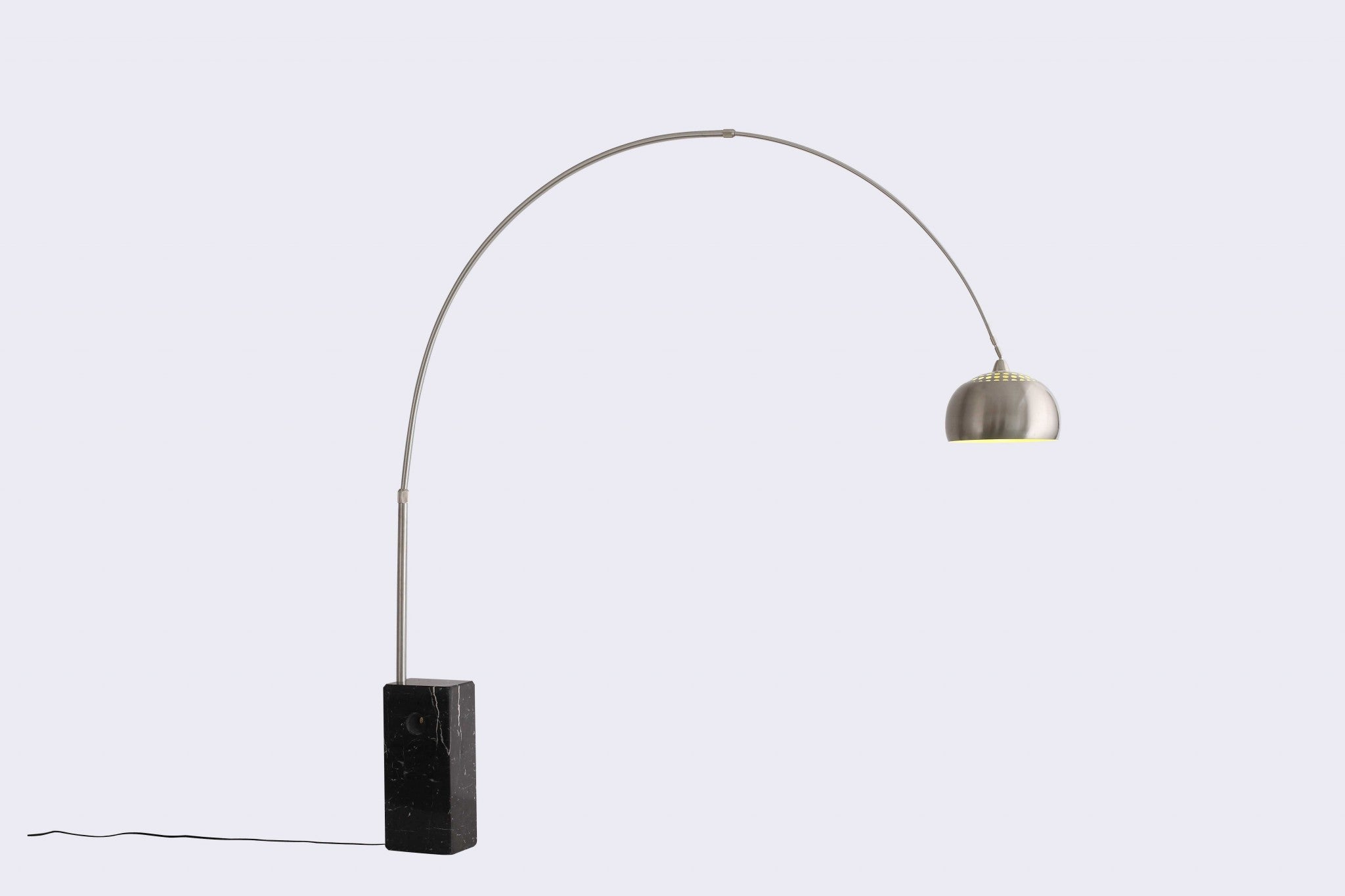 "75"" X 79"" Black Aluminum Floor Lamp"