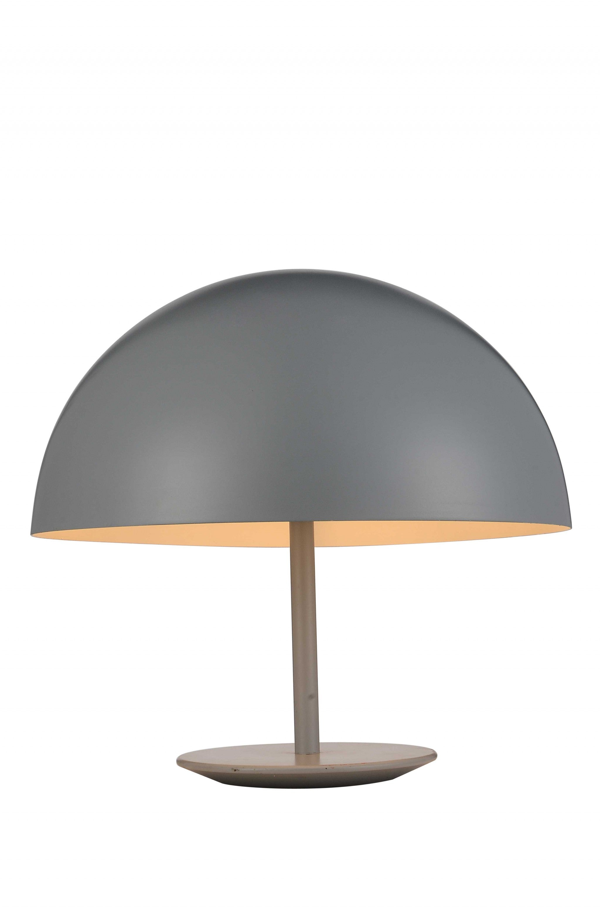 "16"" X 16"" X 16"" Grey Aluminum Table Lamp"