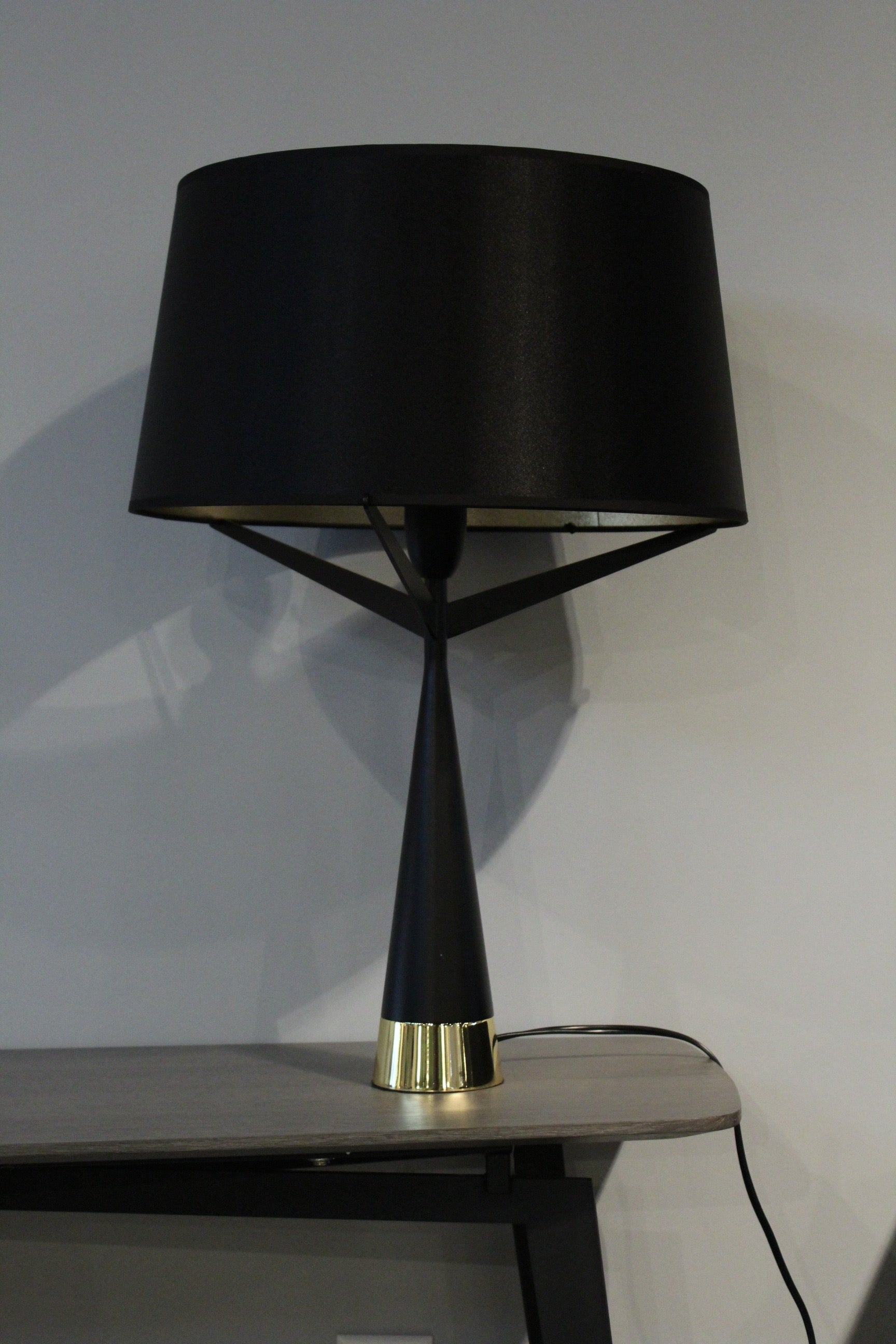 "16"" X 16"" X 24"" Black Carbon Steel Table Lamp"