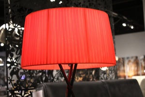 "18"" X 18"" X 29.5"" Red Carbon Steel Table Lamp"