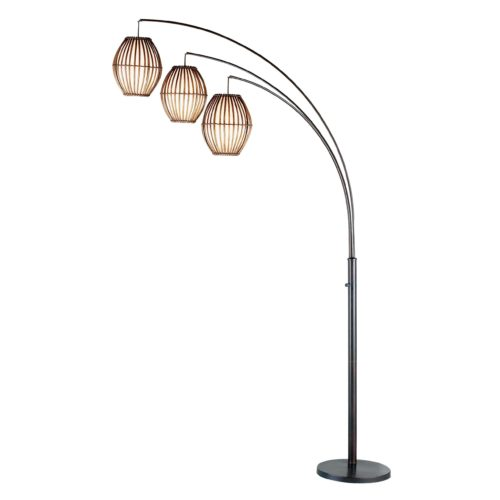 "45"" X 12.5"" X 82"" Bronze Metal Arc Lamp"