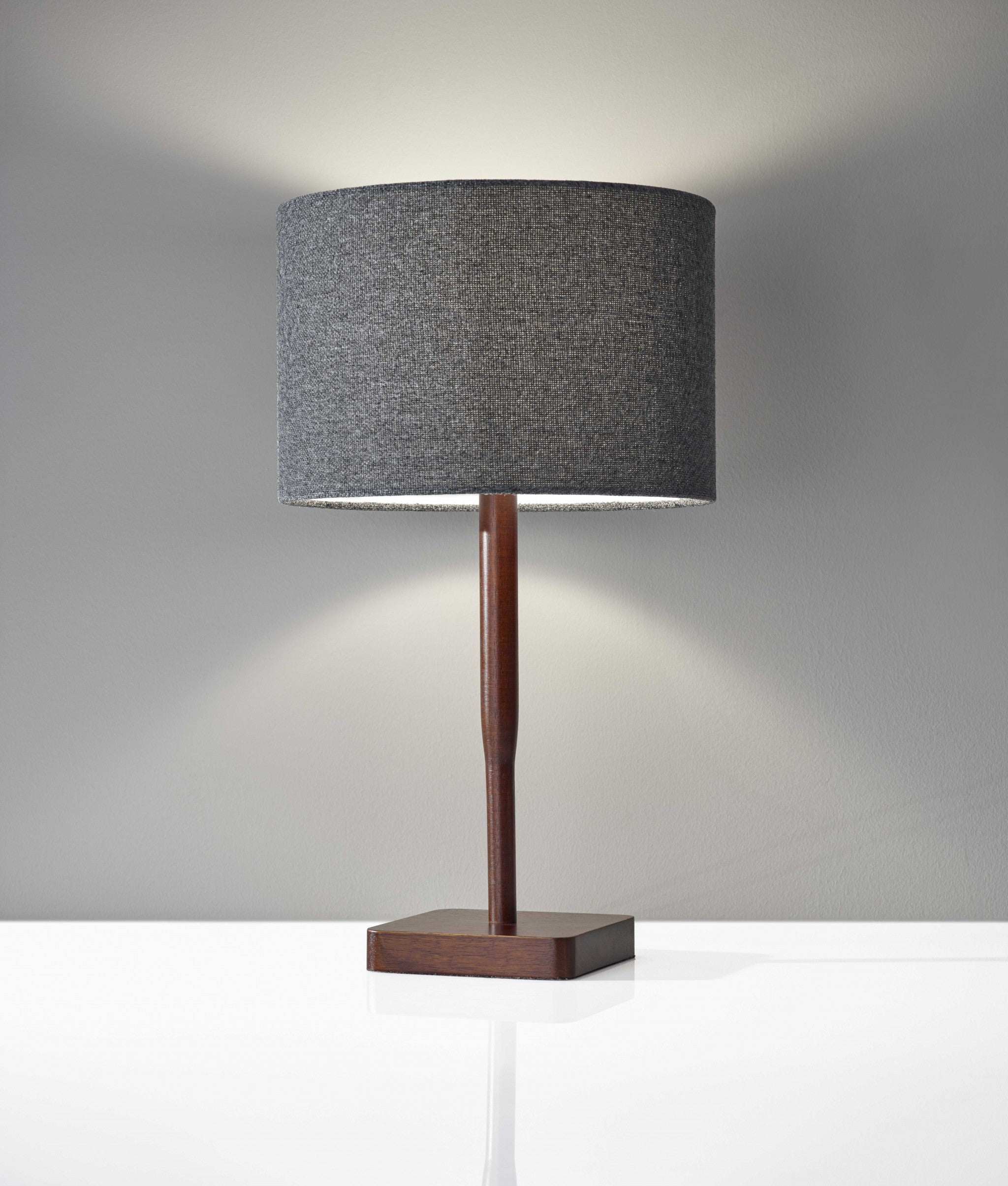Cozy Cabin Walnut Wood Finish Table Lamp